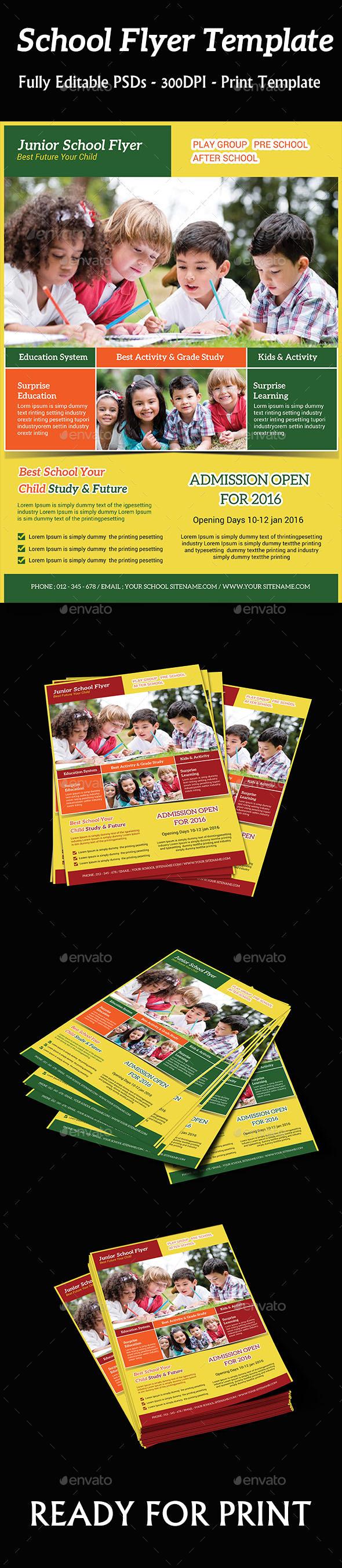 Kids School Flyer - Flyers Print Templates