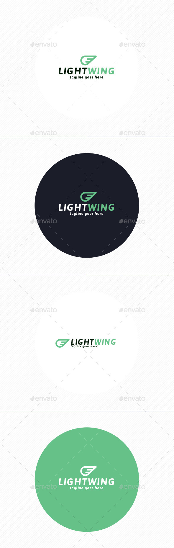 Light Wing Logo - Vector Abstract