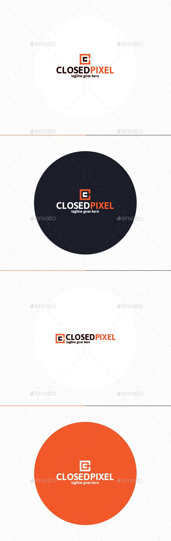 Closed Pixel Logo • Letter C - Letters Logo Templates
