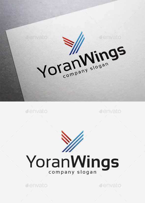 Yoran Wings Logo - Letters Logo Templates