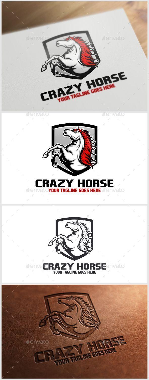 Crazy Horse Logo Template - Animals Logo Templates