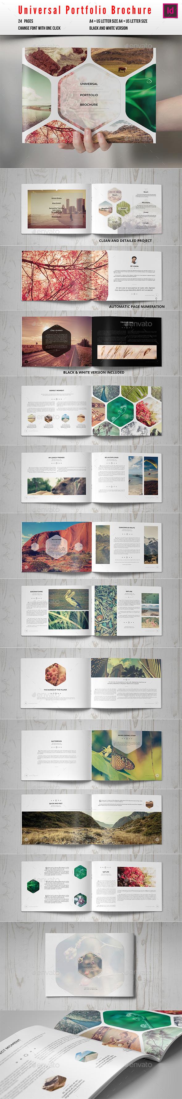 Universal Portfolio Brochure / Catalog - Photo Albums Print Templates