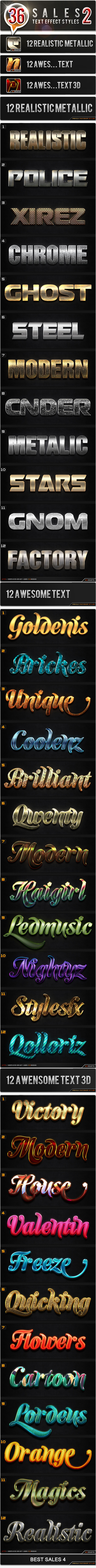 36 Sales 2 Bundle - Text Effects Styles