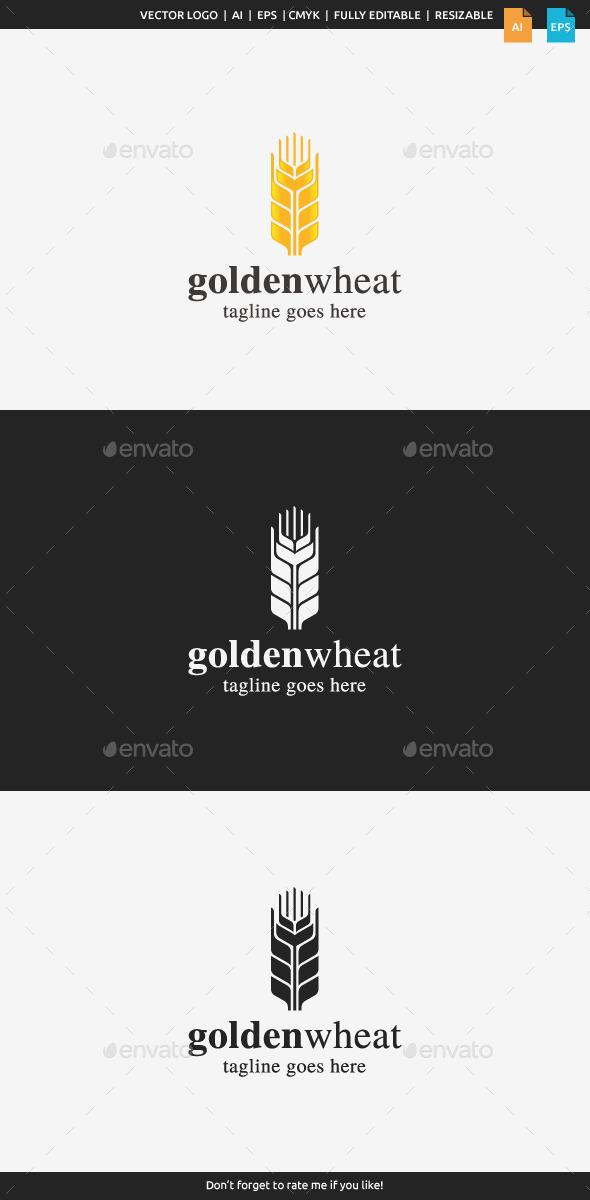 Golden Wheat Logo - Nature Logo Templates
