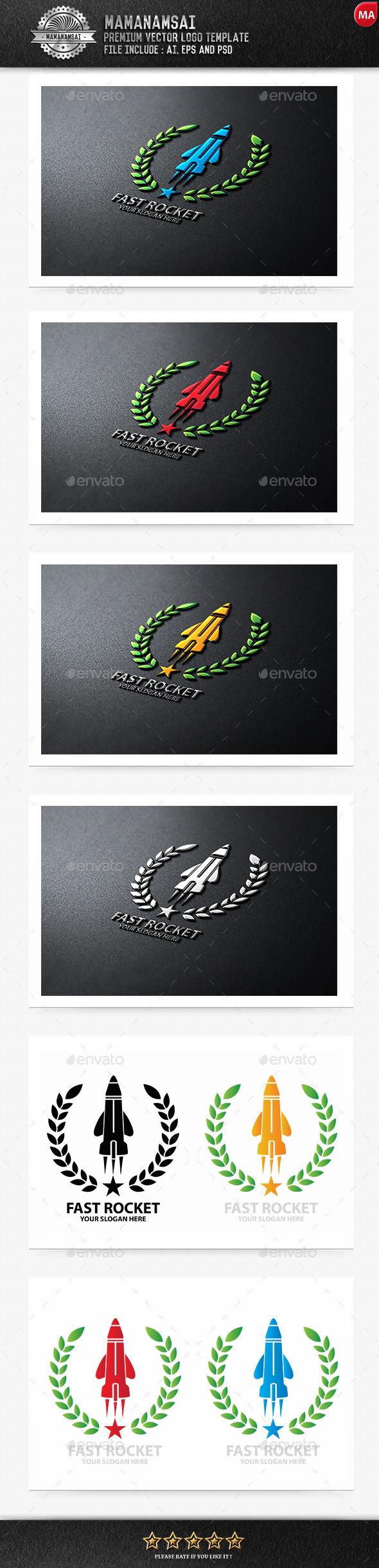 Fast Rocket Logo - Logo Templates