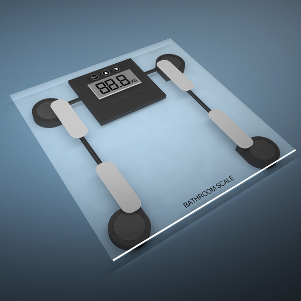 Bathroom weight scale - 3DOcean Item for Sale