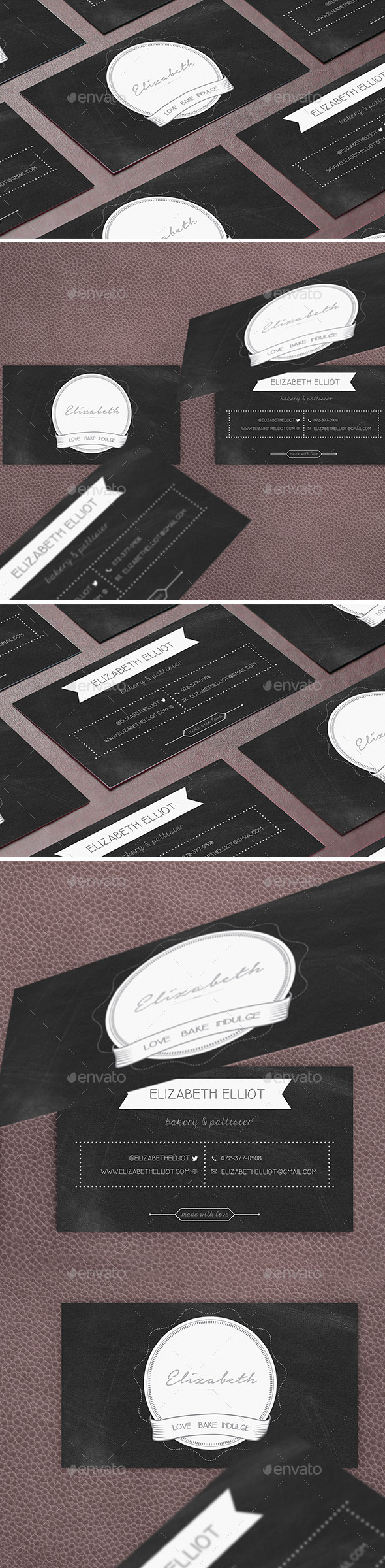 Business Card Template Bakery - Creative Business Cards