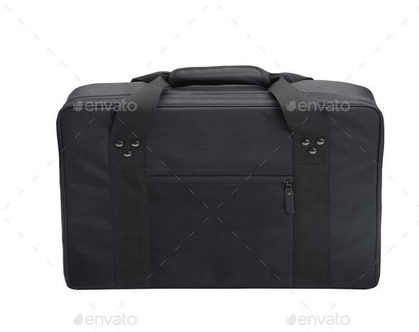 black canvas laptop bag - Stock Photo - Images