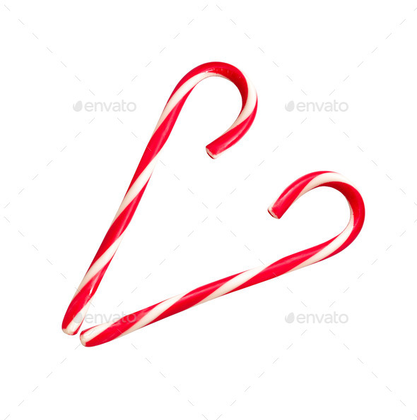heart from lollipop canes - Stock Photo - Images