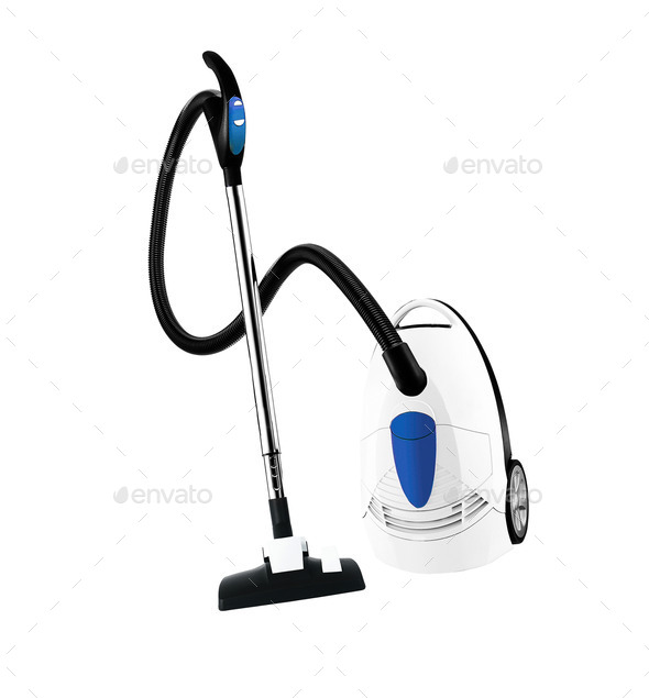 vacuum cleaner isolated - Stock Photo - Images