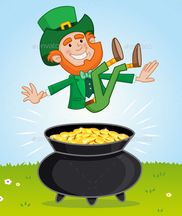 Leprechaun and His Pot of Gold - Miscellaneous Characters