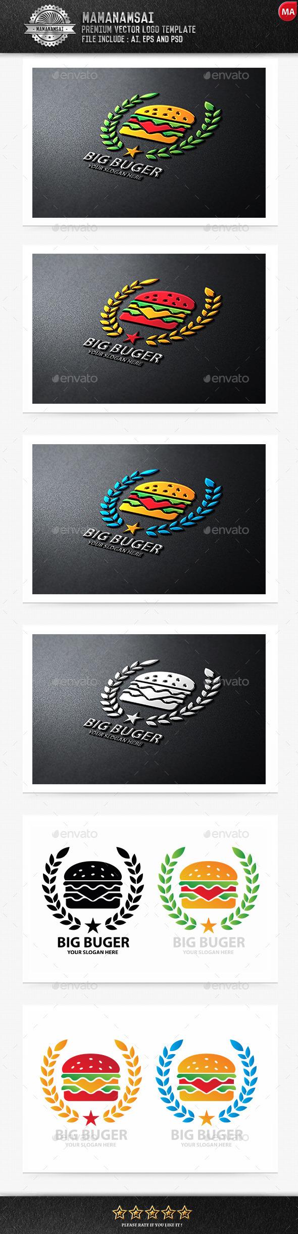 Big Burger Logo - Logo Templates