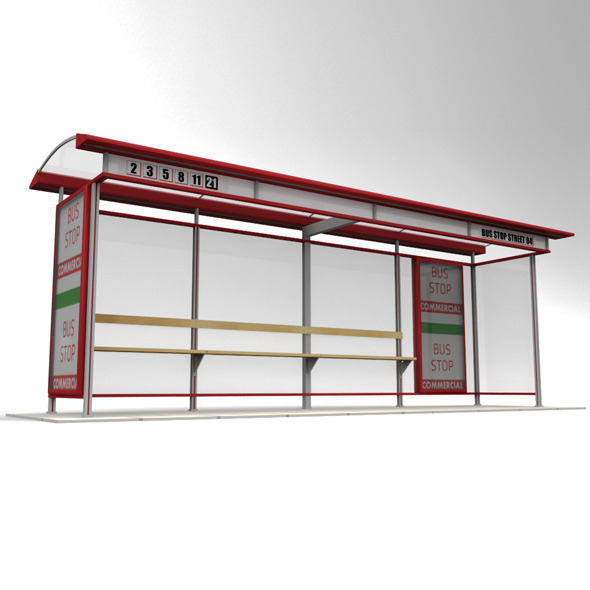 Bus stop - 3DOcean Item for Sale