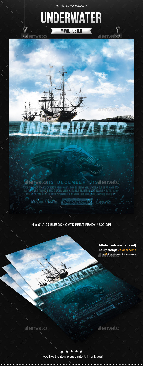 Underwater - Movie Poster - Miscellaneous Events
