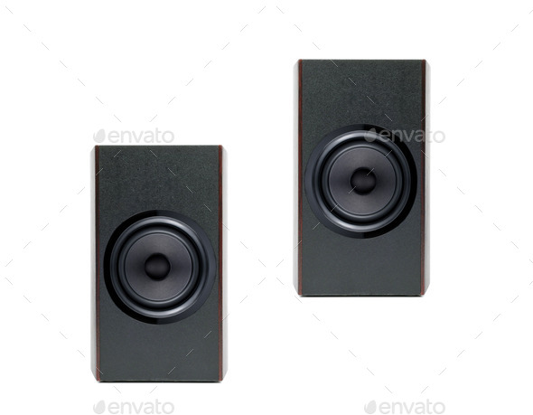 Acoustic system isolated - Stock Photo - Images