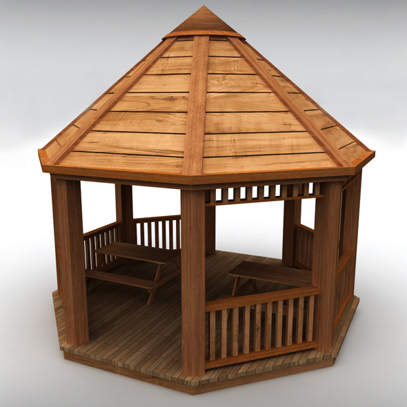 Garden gazebo - 3DOcean Item for Sale