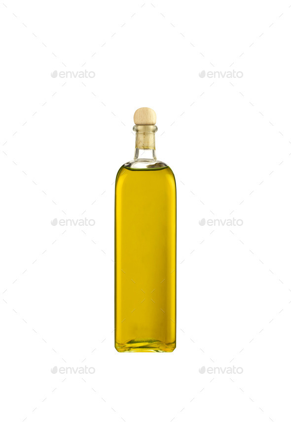 Olive Oil Bottle Isolated On White Background