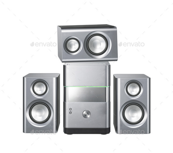gray music center - Stock Photo - Images