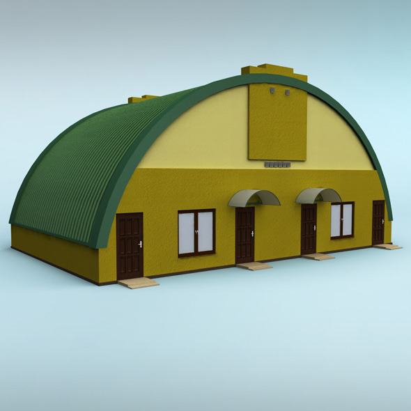 Rounded building - 3DOcean Item for Sale
