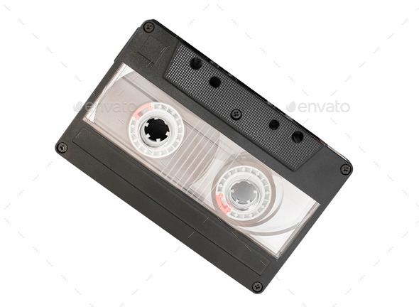 cassette tape isolated on white - Stock Photo - Images