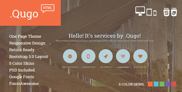 Qugo – One Page Multi Purpose Modern HTML Template