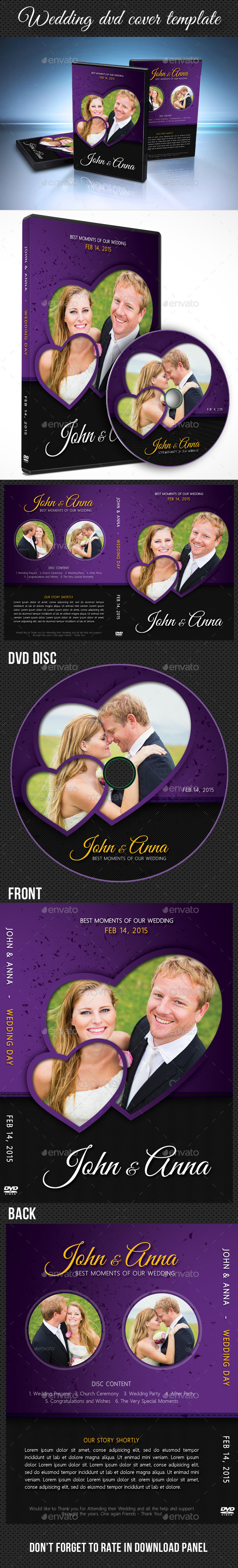 Wedding DVD Cover Template 12 - CD & DVD Artwork Print Templates