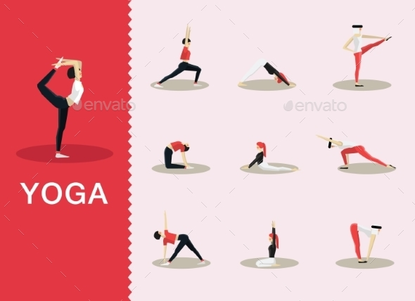 Yoga Poses - People Characters
