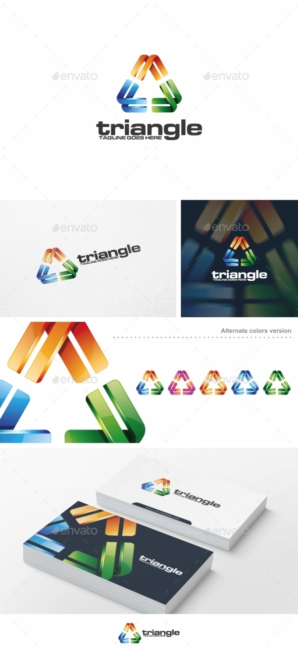 Colorful Triangle - Logo Template - Symbols Logo Templates