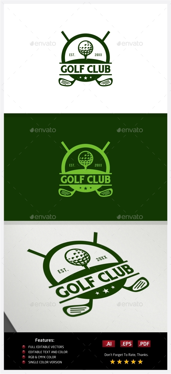 Golf Club Logo - Crests Logo Templates