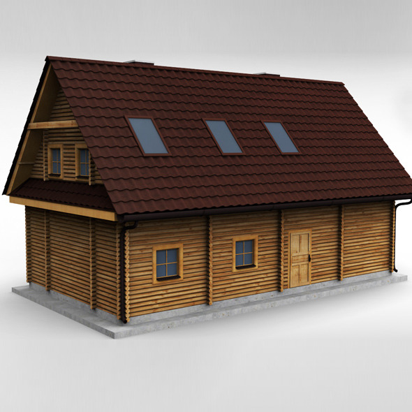 Wooden House High poly - 3DOcean Item for Sale