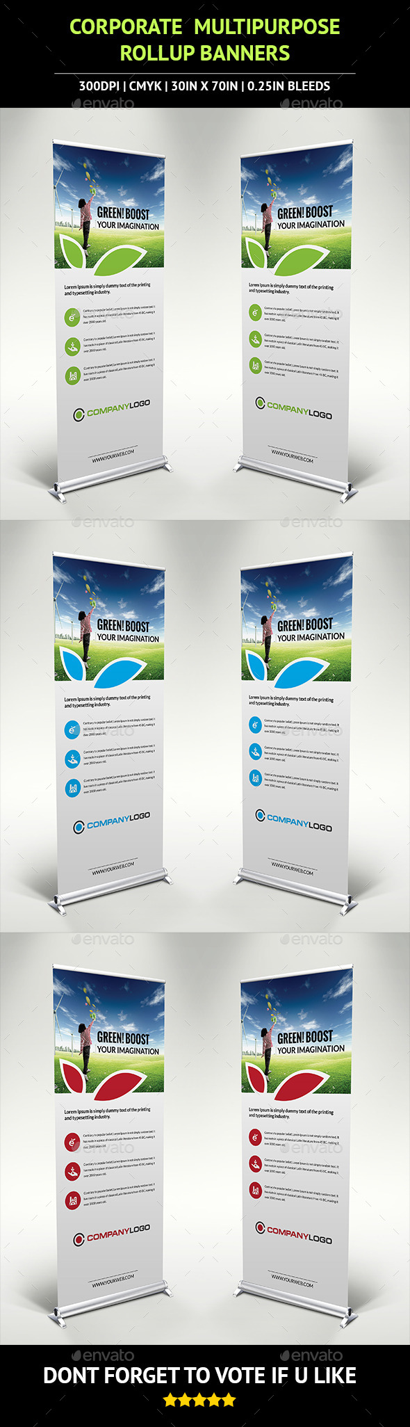 Corporate Rollup Banner v3 - Signage Print Templates