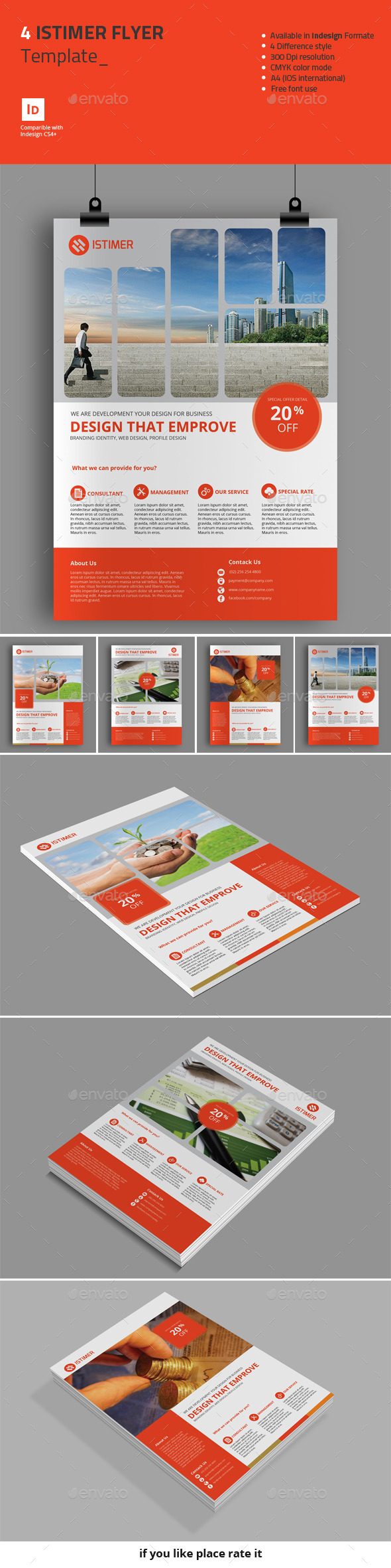 4 Istimer Flyer Template - Corporate Flyers