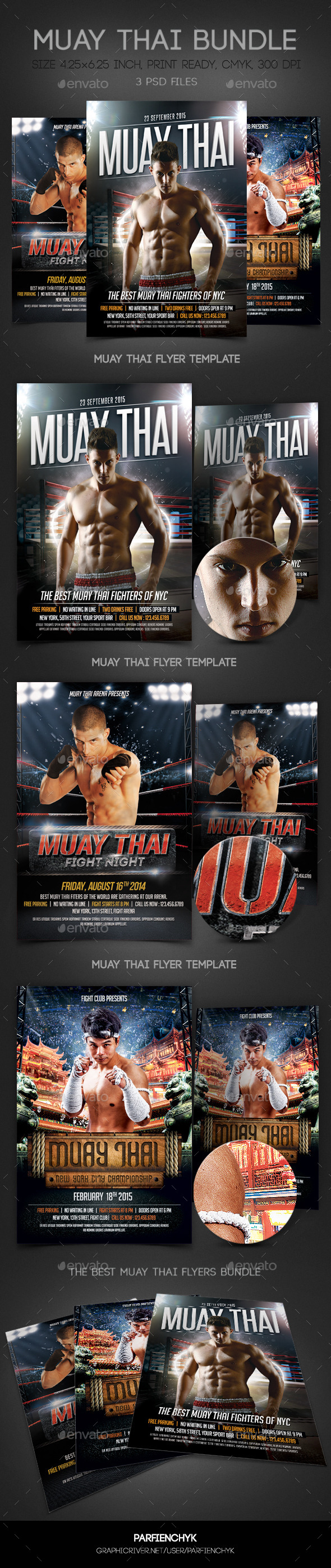 Muay Thai Flyers Bundle - Sports Events