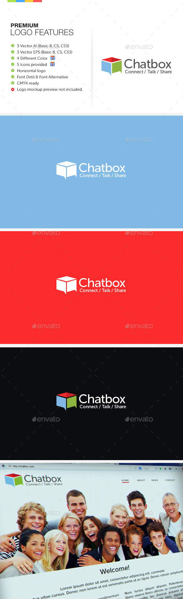 Chat Box Logo - Symbols Logo Templates