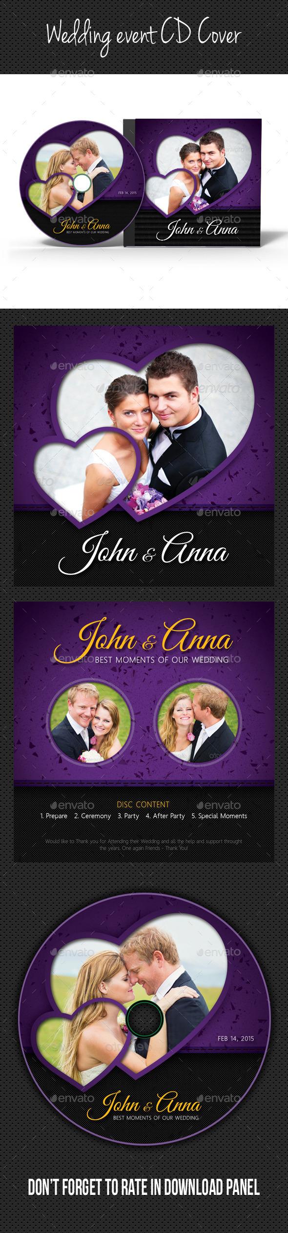 Wedding Event CD Cover V07 - CD & DVD Artwork Print Templates