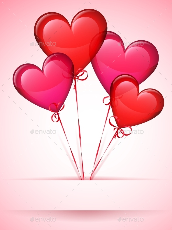 Heart Shaped Balloons - Valentines Seasons/Holidays