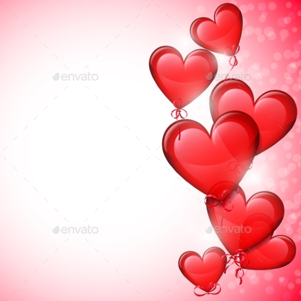 Heart Shaped Balloons - Valentines Seasons/Holidays