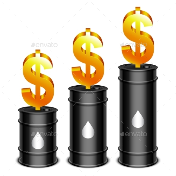 Oil Barrels and Dollar - Industries Business