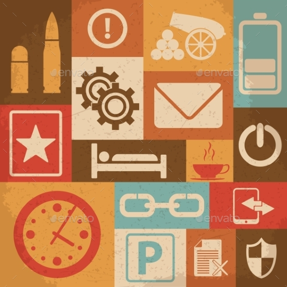 Universal Retro Icons for Web and Mobile - Web Technology