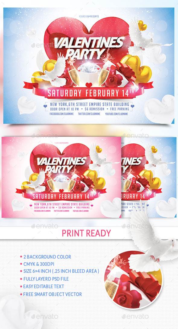 Valentine Party - Events Flyers