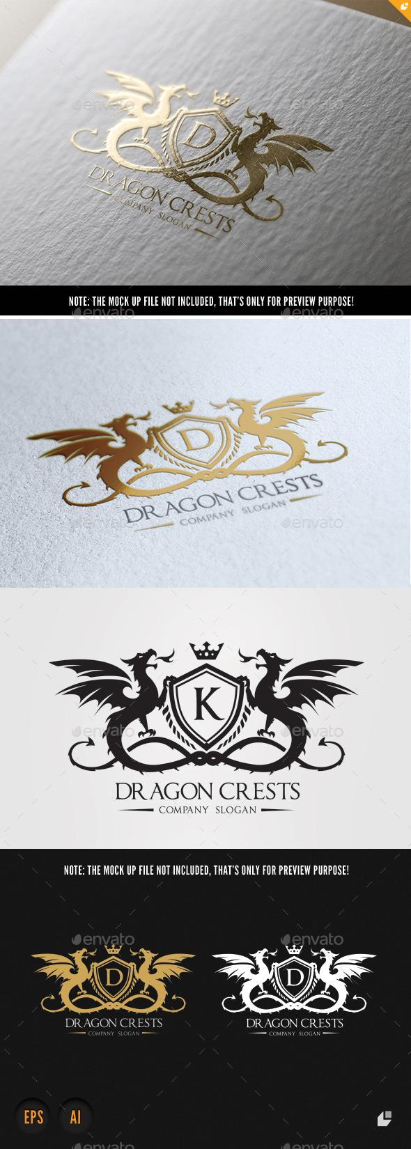 Dragon Crests - Crests Logo Templates