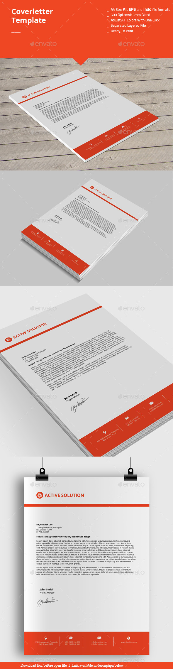 Coverletter Templates - Stationery Print Templates