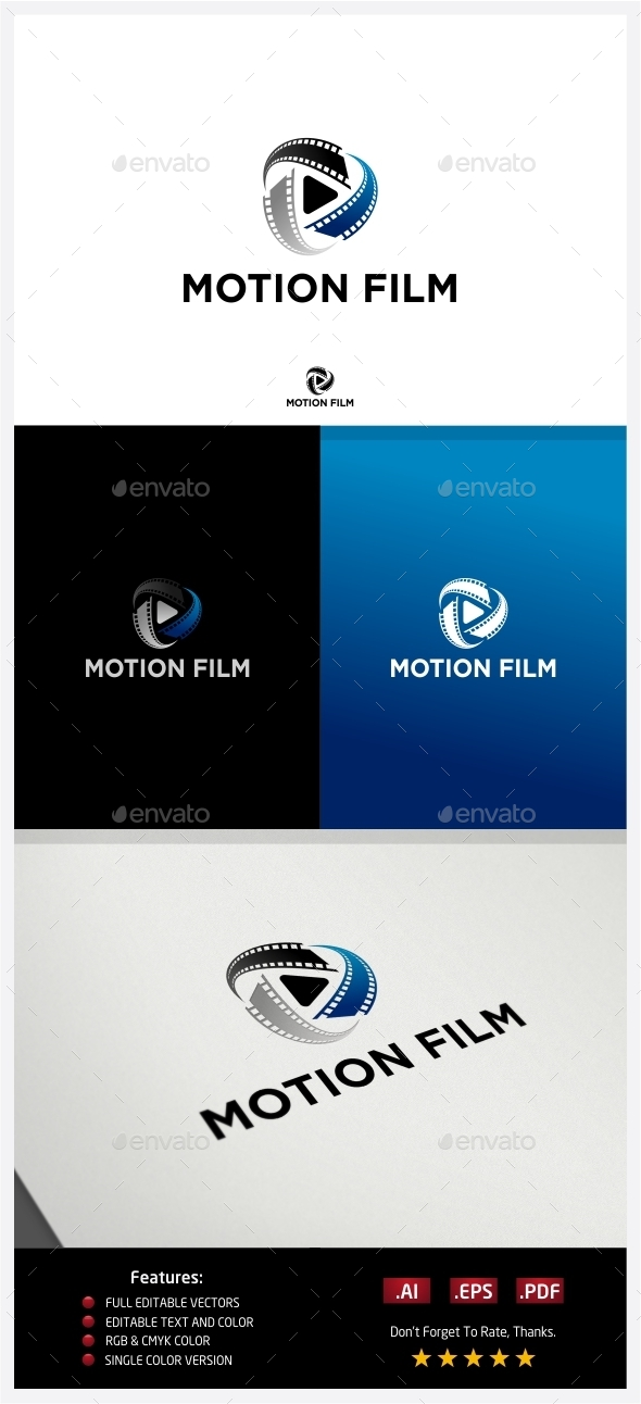 Motion Film Logo - Vector Abstract