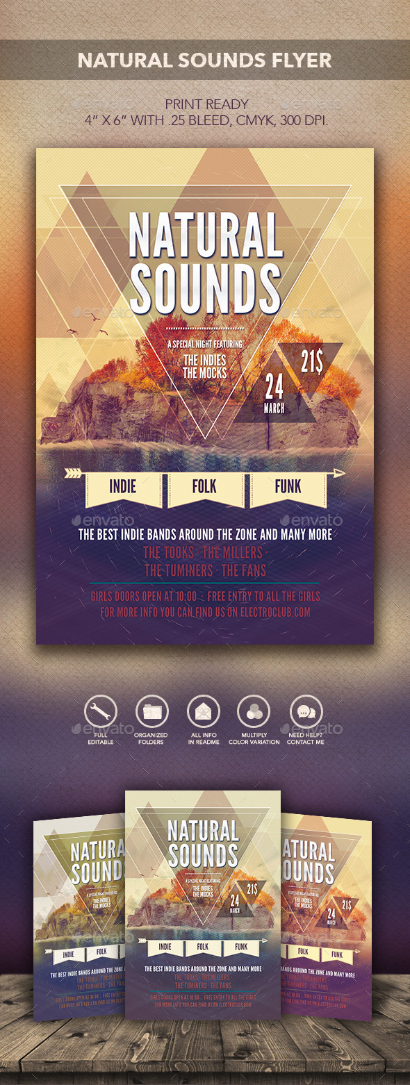 Natural Sounds Flyer - Flyers Print Templates