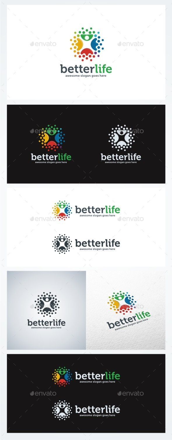 Better Life - Humans Logo Templates