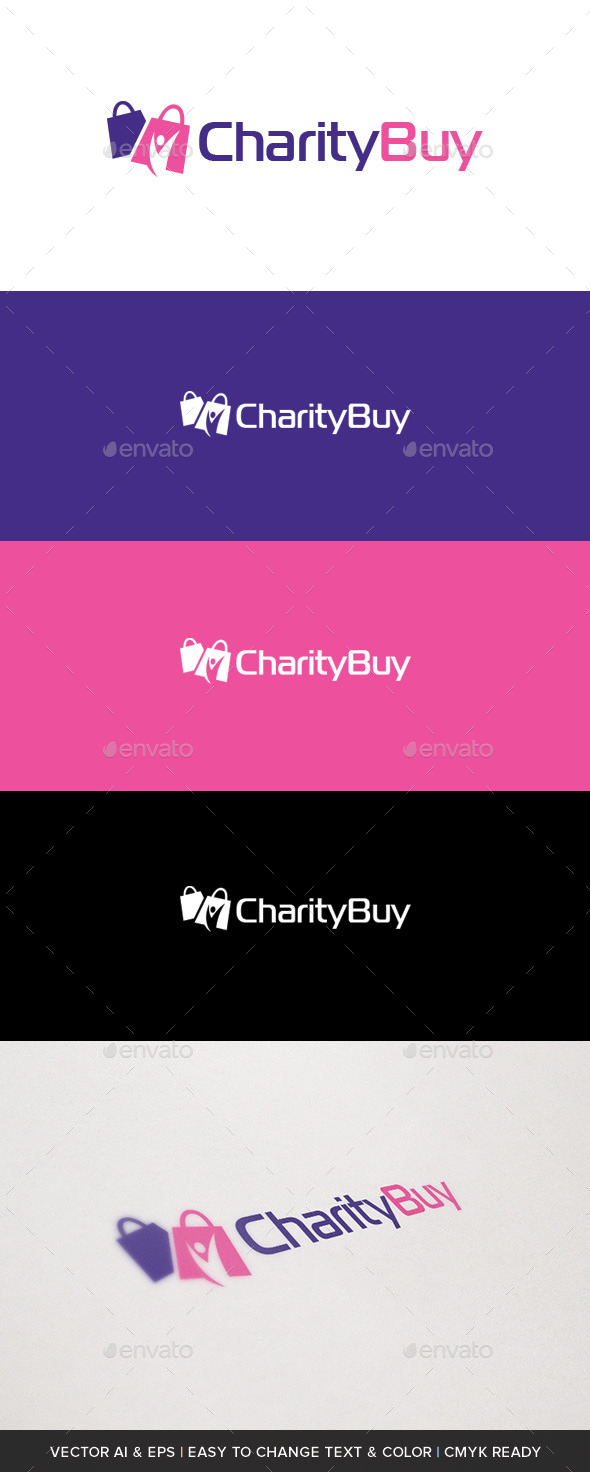Charity Buy Logo - Symbols Logo Templates