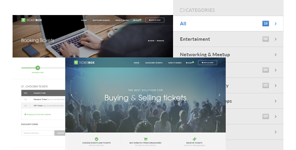 TicketBox – Event Tickets Management PSD