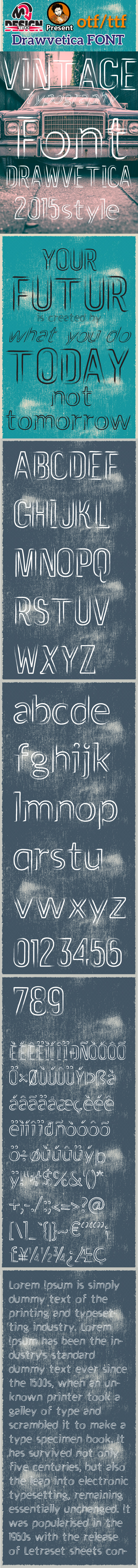 Drawvetica Font - Script Fonts