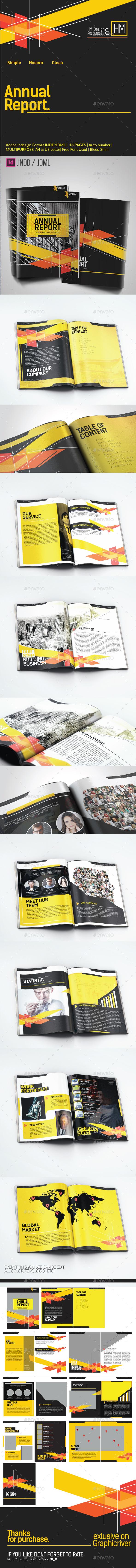 Annual Report Multipurpose Corporate Template  - Corporate Brochures