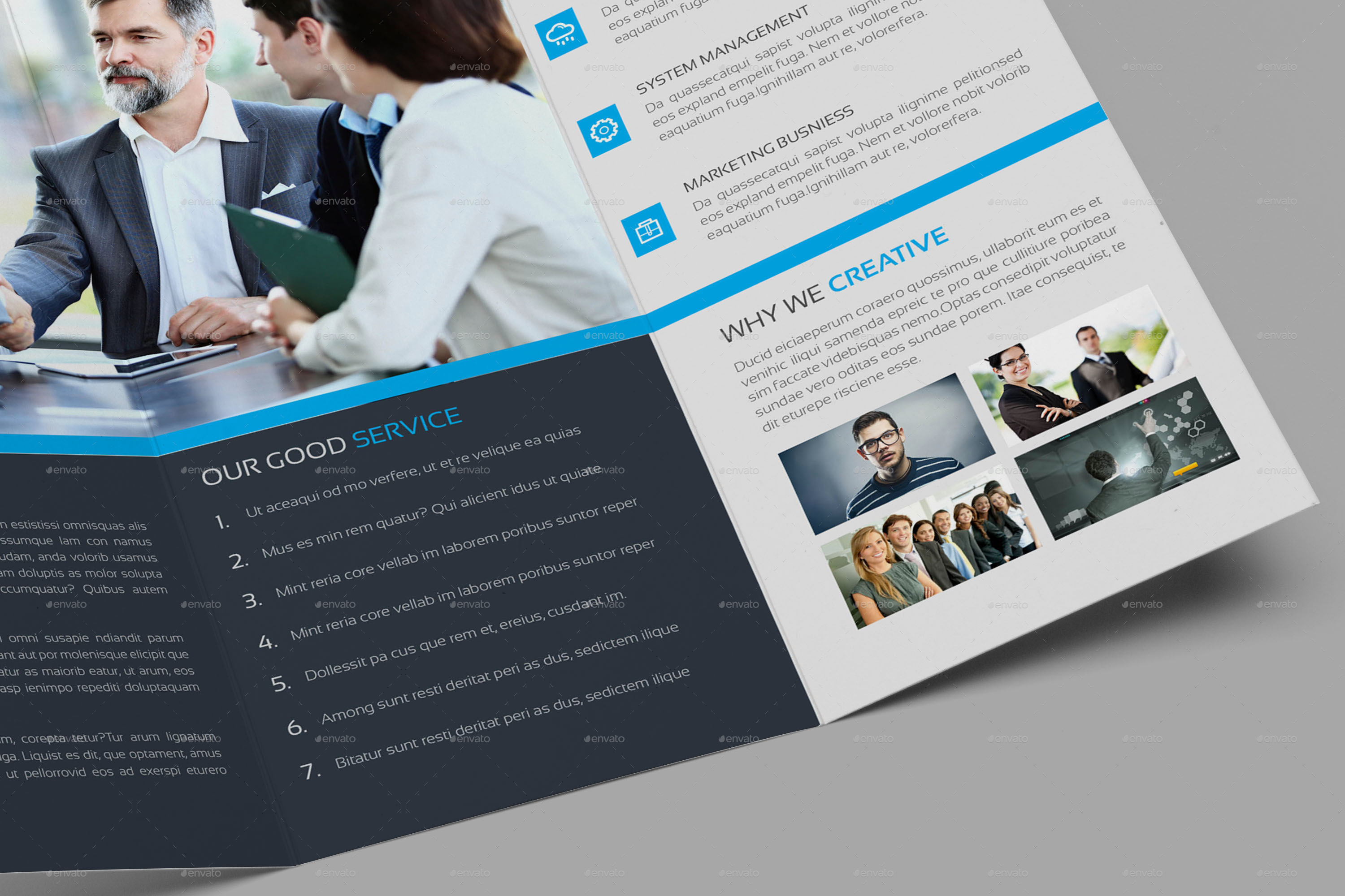 clean corporate tri fold brochure template by addaxx graphicriver